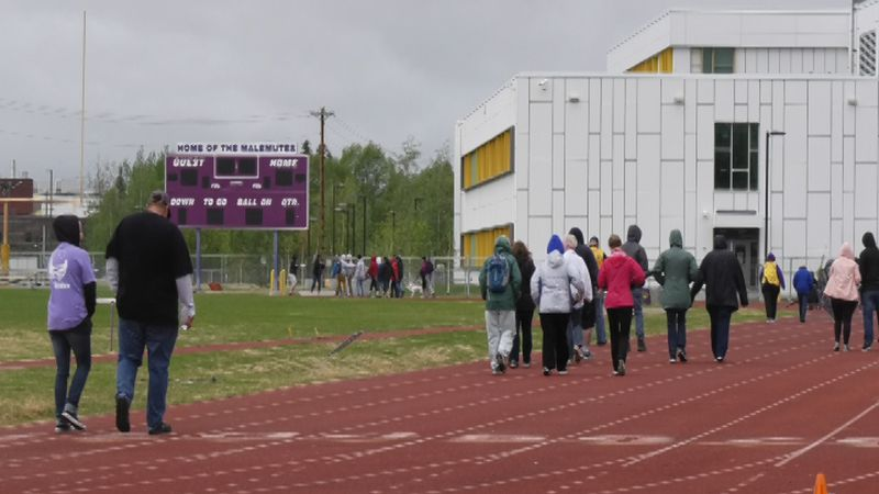 Fairbanks' annual Out of the Darkness Community Walk took place at Lathrop High School's Track...