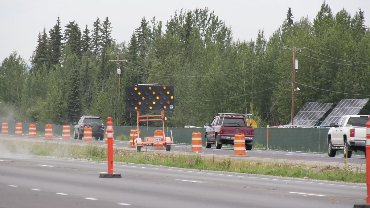 The Fairbanks - North Pole corridor of the Richardson Highway sees more than 14,000 vehicles pass through daily during the summer. (Alex Bengel/KTVF)