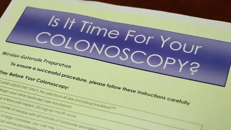 Health officials have lowered the age of colonoscopies from 50 to 45 to have a better chance of...