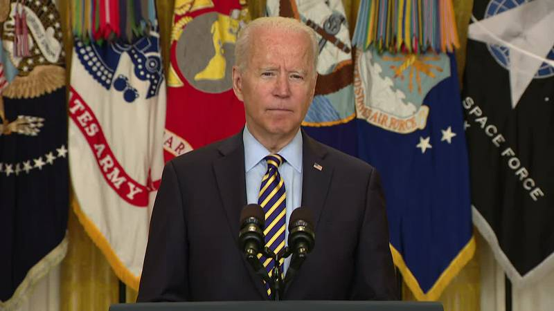 President Joe Biden says the U.S. is set to complete the war in Afghanistan by August 31. It's...