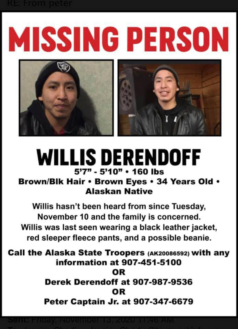 There is a $12,000 reward for information on Willis Derendoff's disappearance. Tips can also...