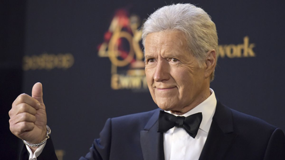 Alex Trebek poses in the press room at the 46th annual Daytime Emmy Awards at the Pasadena Civic Center on Sunday, May 5, 2019, in Pasadena, Calif. (Photo by Richard Shotwell/Invision/AP)