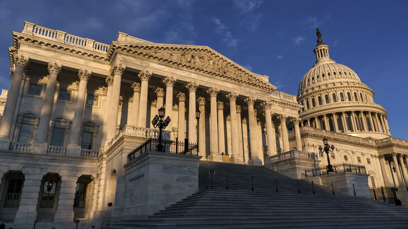The House of Representatives side of the U.S. Capitol is seen on the morning of Election Day,...